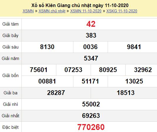 XSKG 11/10/2020