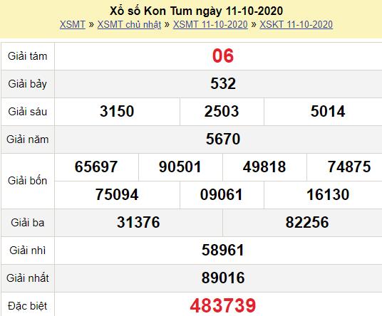 XSKT 11/10/2020