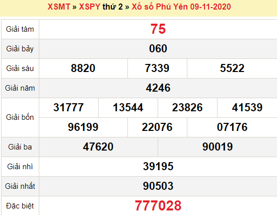 XSPY 16/11/2020