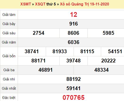 XSQT 19/11/2020