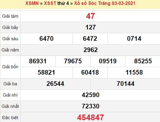 XSST 3/3/2021